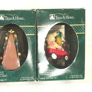 Trim A Home Holiday - Trim A Home Ornaments Lot Of 3 Tree Charms